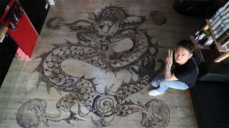 Картины из волос от китайского парикмахера
