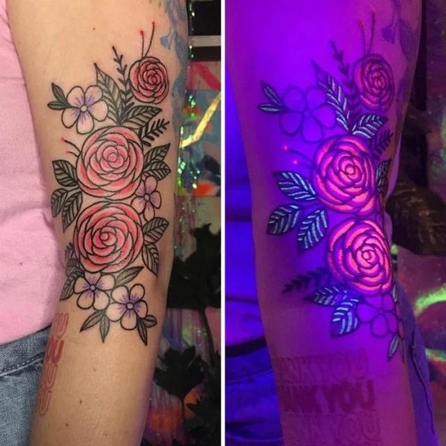 Необычные люминесцентные татуировки
