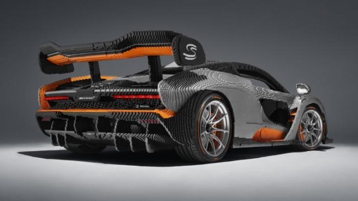 Полноразмерный гиперкар McLaren Senna, созданный из Lego