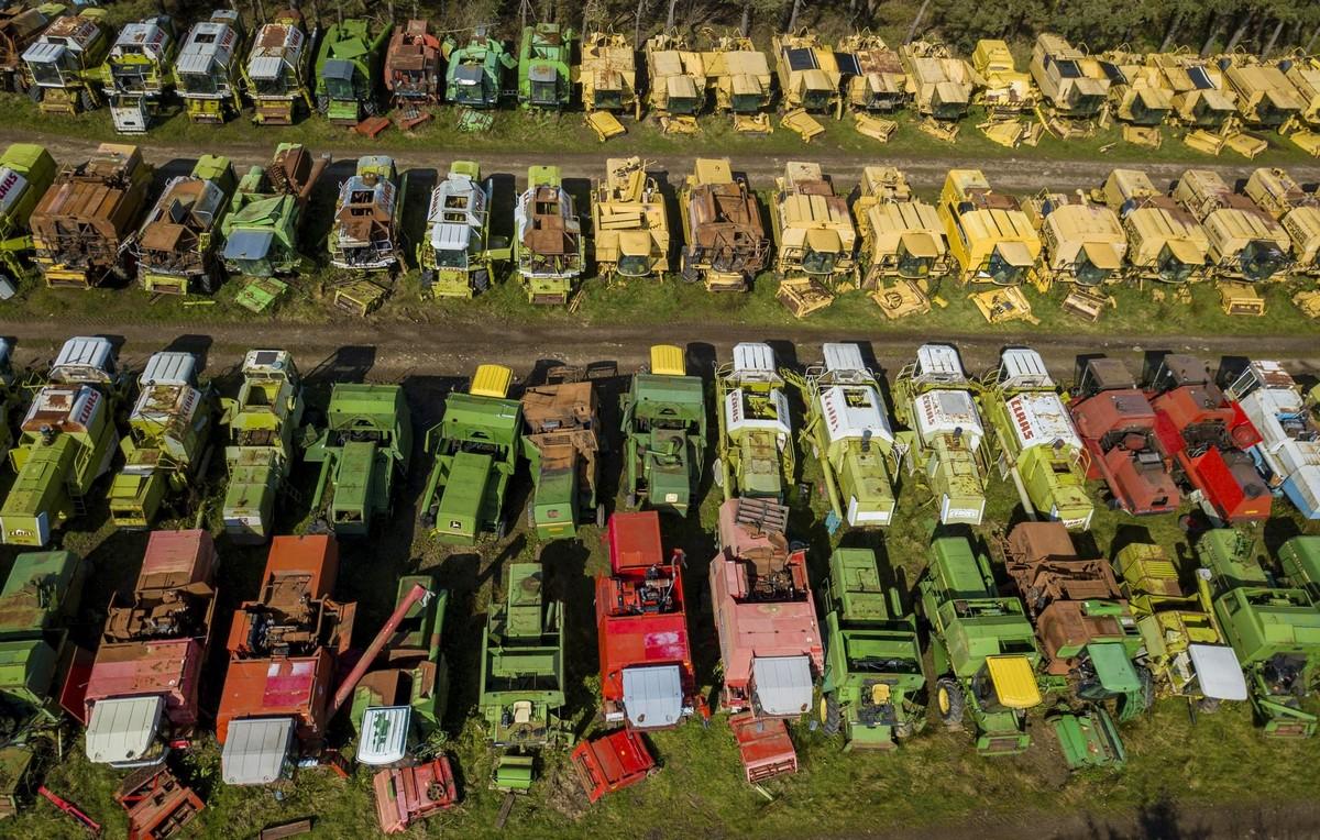 Британское кладбище зерноуборочных комбайнов
