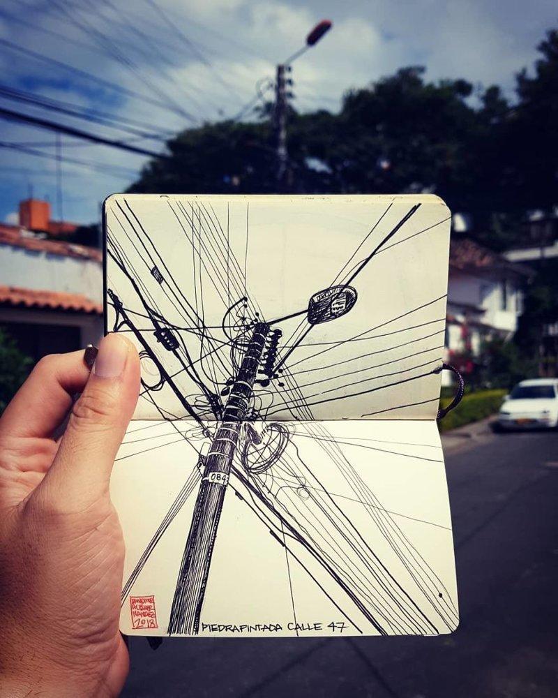 Невероятные скетчи от архитектора из Колумбии