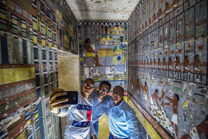 Гробница возрастом 4000 лет поразила археологов яркими красками