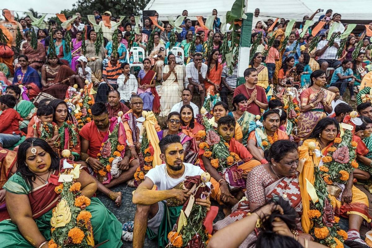 Ежегодный фестиваль Мариамман в Индии