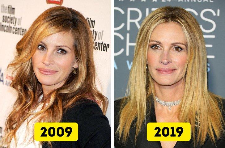 Знаменитости, которые за 10 лет совсем не изменились