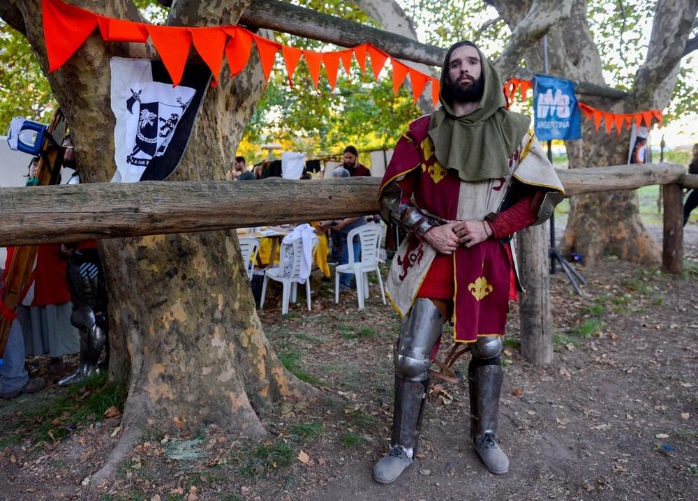Соревнования по средневековым боям в Аргентине