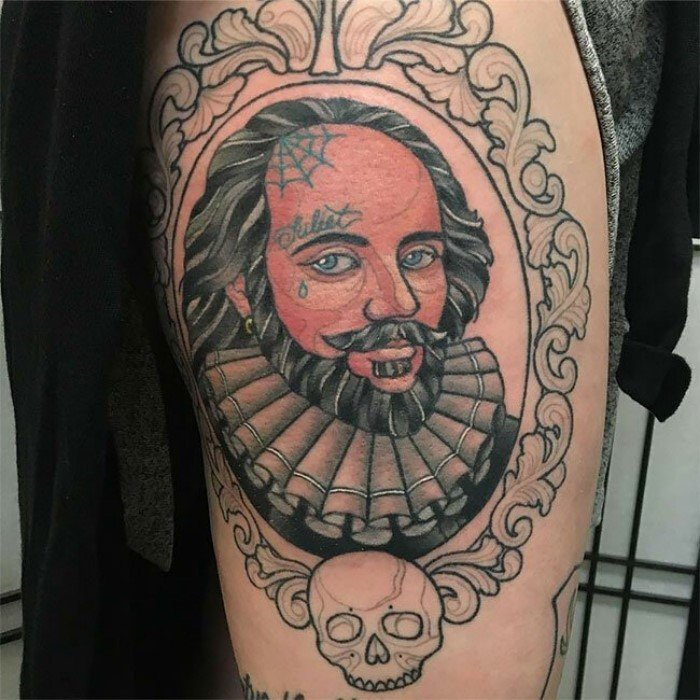 Символичные татуировки, вдохновленные книгами и писателями