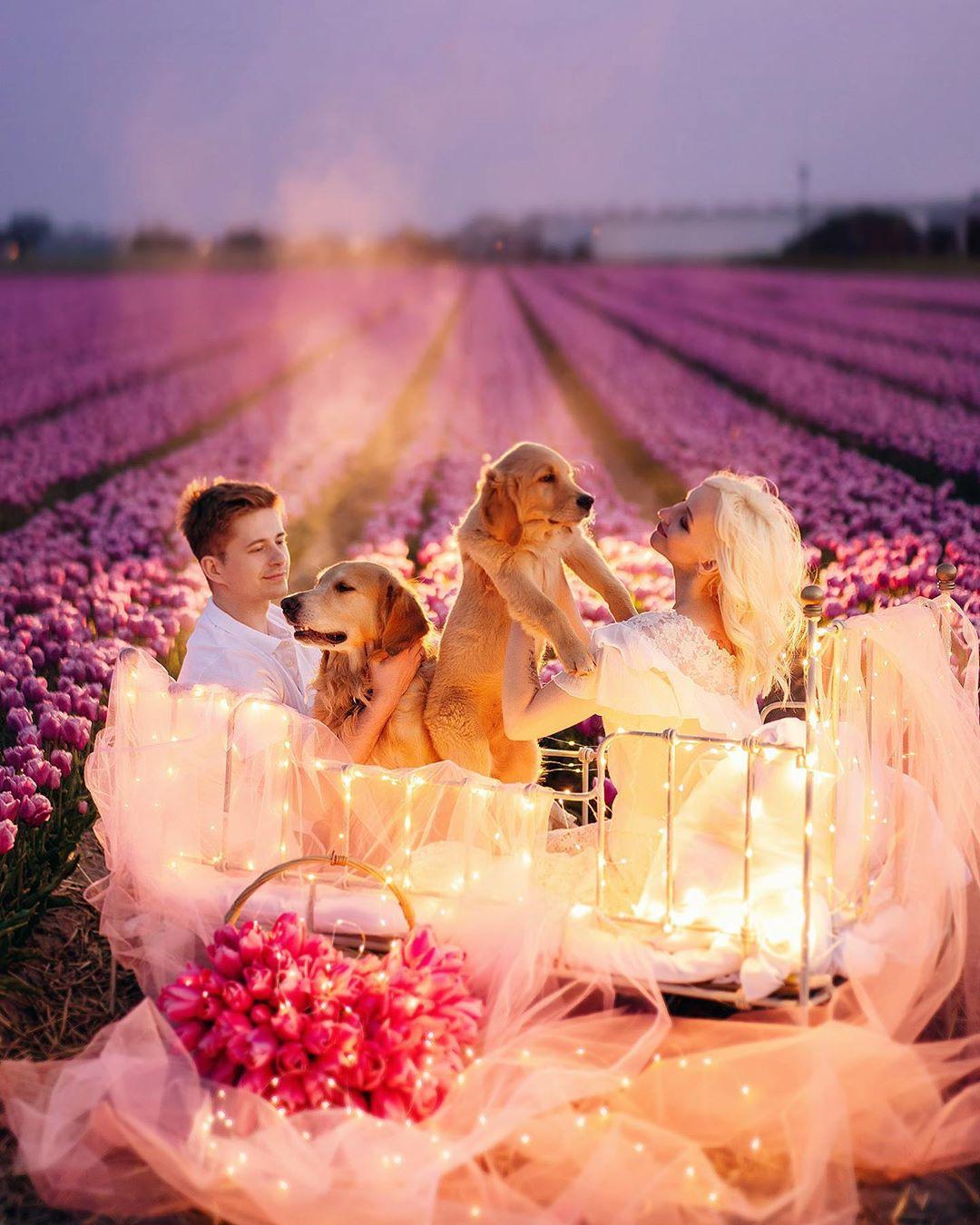 Девушки, цветы и животные на снимках Дарьи Булавиной