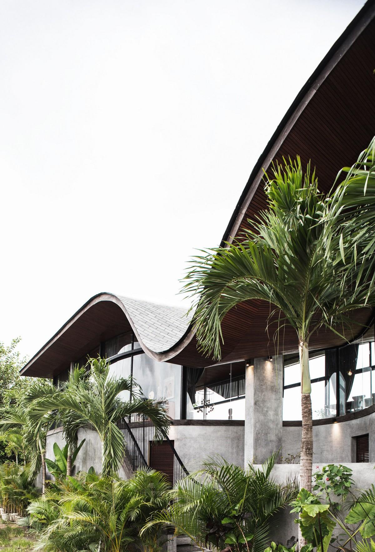 Волнистый дом музыканта в Индонезии