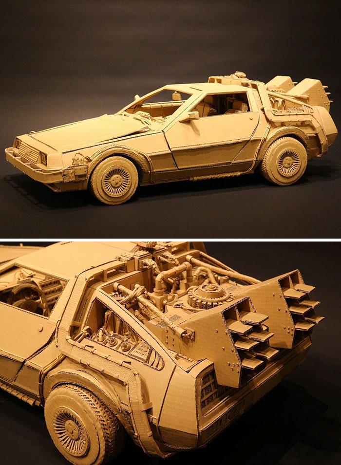 Японка создаёт невероятные 3D-скульптуры из картонных коробок