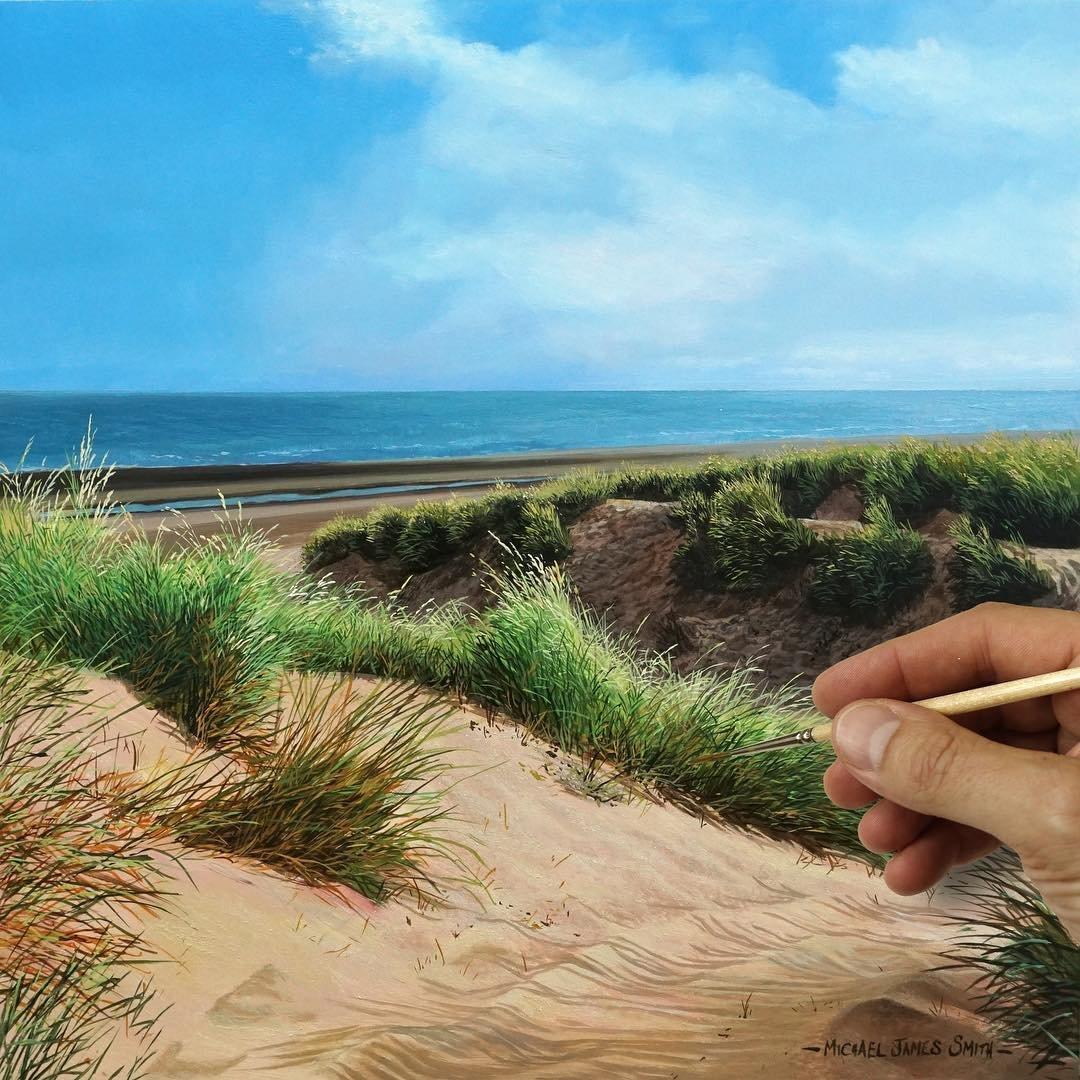 Гиперреалистичные пейзажи Майкла Джеймса Смита, которые похожи на фотографии