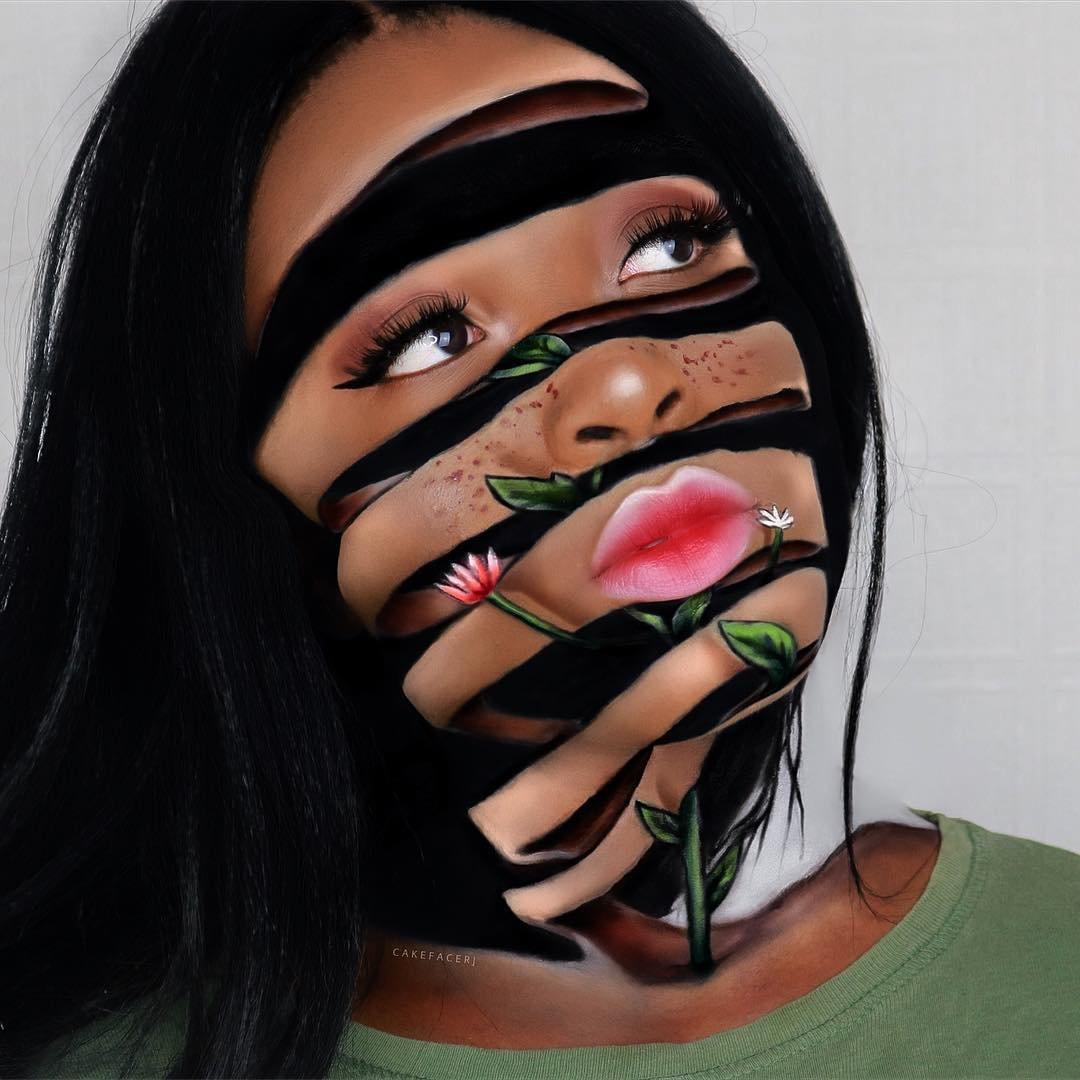 Невероятные иллюзии на лице визажистки из Ноттингема