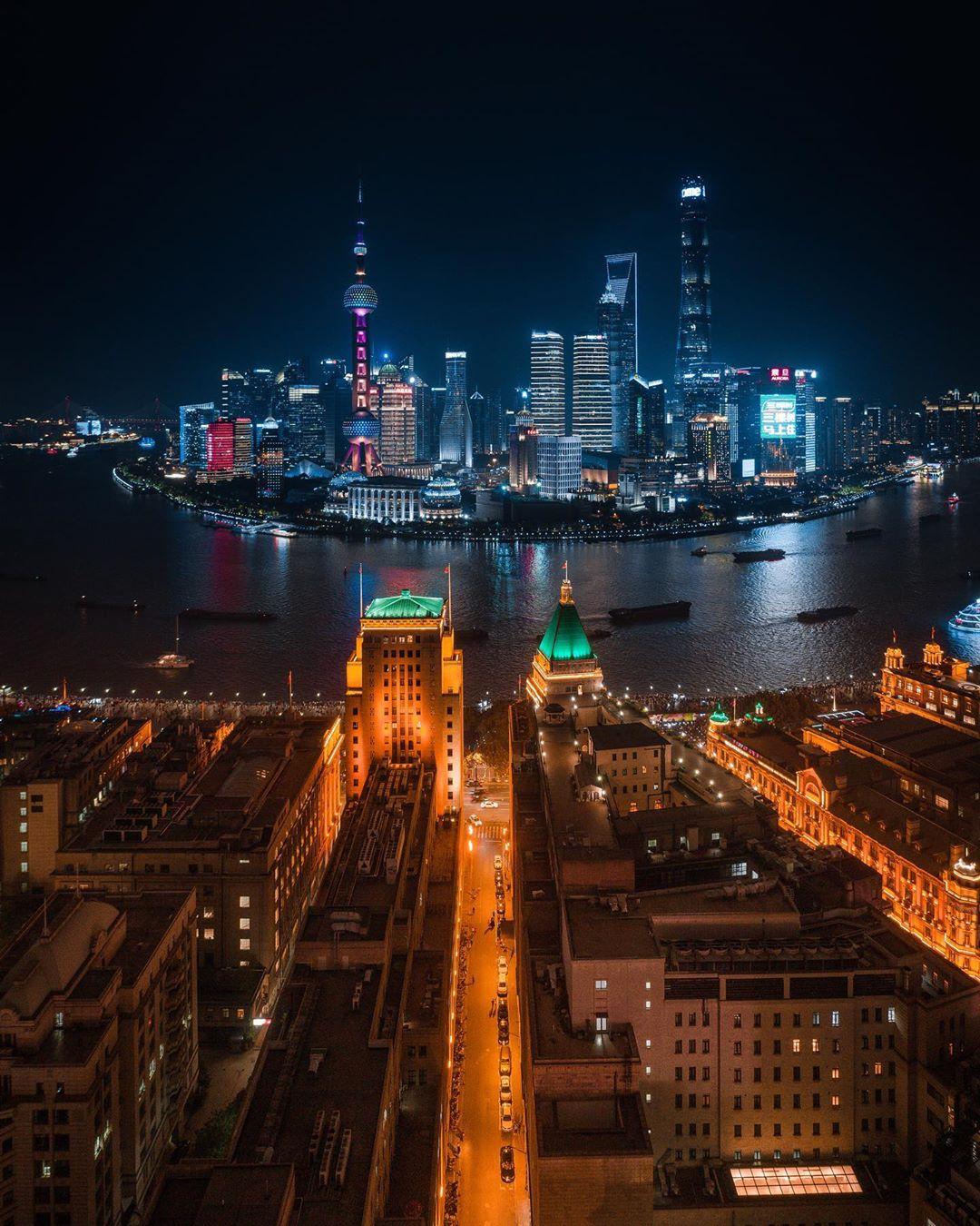 Китайские города с высоты на аэрофотоснимках Лю Цяня