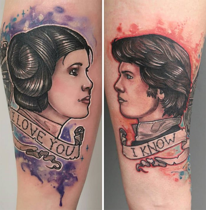 45 примеров восхитительных парных татуировок