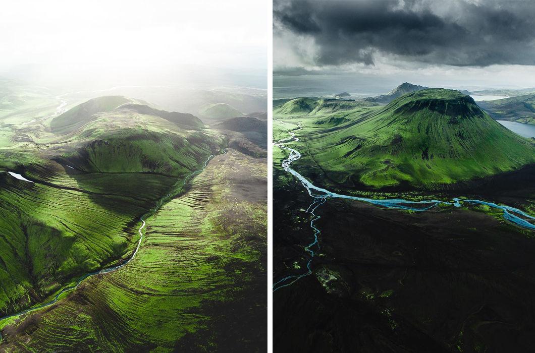 Красоты Исландии с высоты птичьего полета