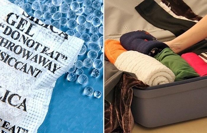 Полезное применение пакетиков с гелевыми шариками из обувных коробок
