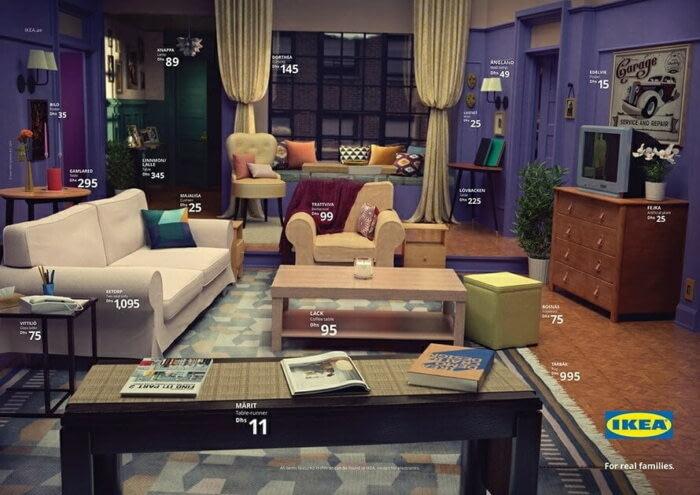 Комнаты из мебели IKEA как в сериалах Друзья, Симпсоны и Очень странные дела
