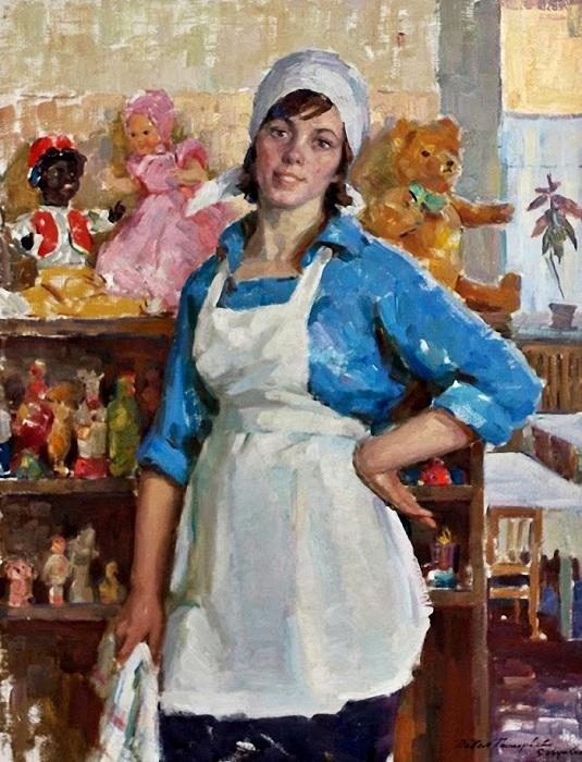 Женщины в искусстве художников соцреализма