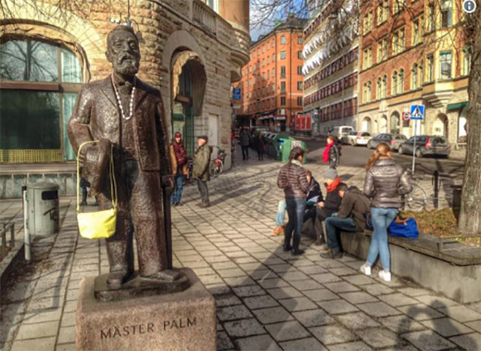 История памятника Женщина с сумкой в Швеции