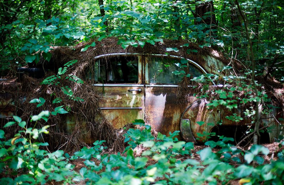 Город старых автомобилей в США