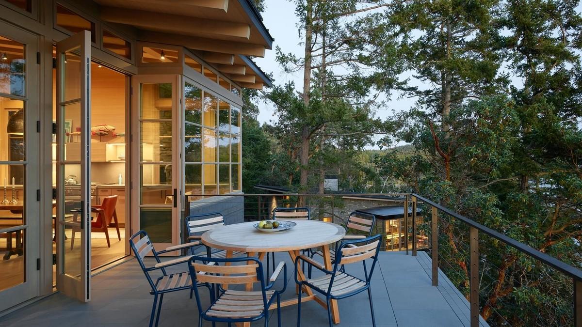 Загородный дом на склонах Аппалачей в США