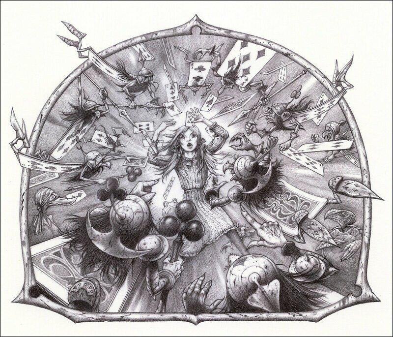 Причудливые иллюстрации к книгам и рок-альбомам от Родни Мэттьюза