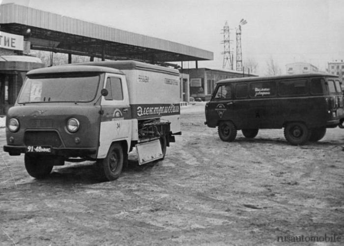 Электромобиль У-131, созданный на базе УАЗ-451 в 1974 году