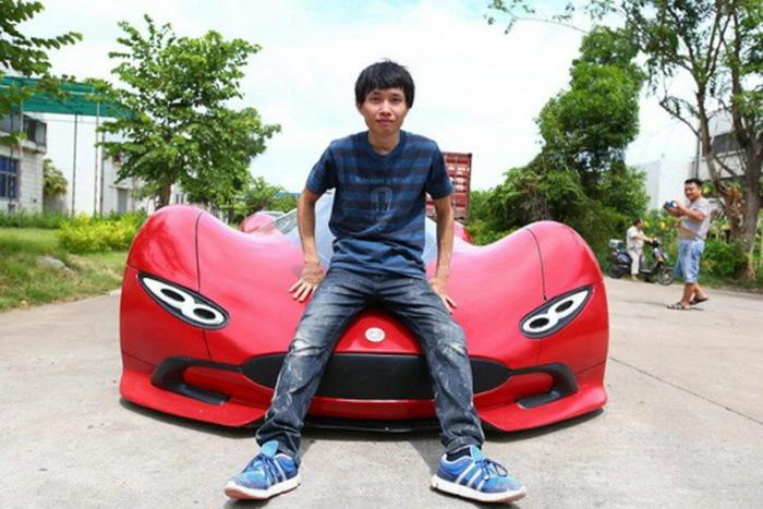 Китаец своими руками создал суперкар