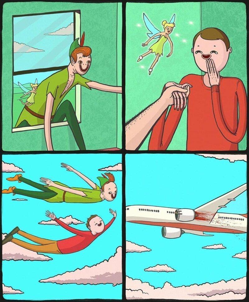 Художник рисует интересные комиксы, которые немного шокируют