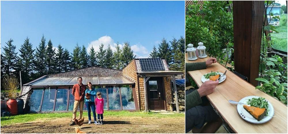 Канадская семья живет в уединенном доме, выращивает еду и собирает дождевую воду