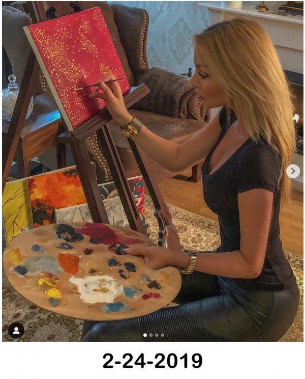 Снимки художницы из Instagram и реальность