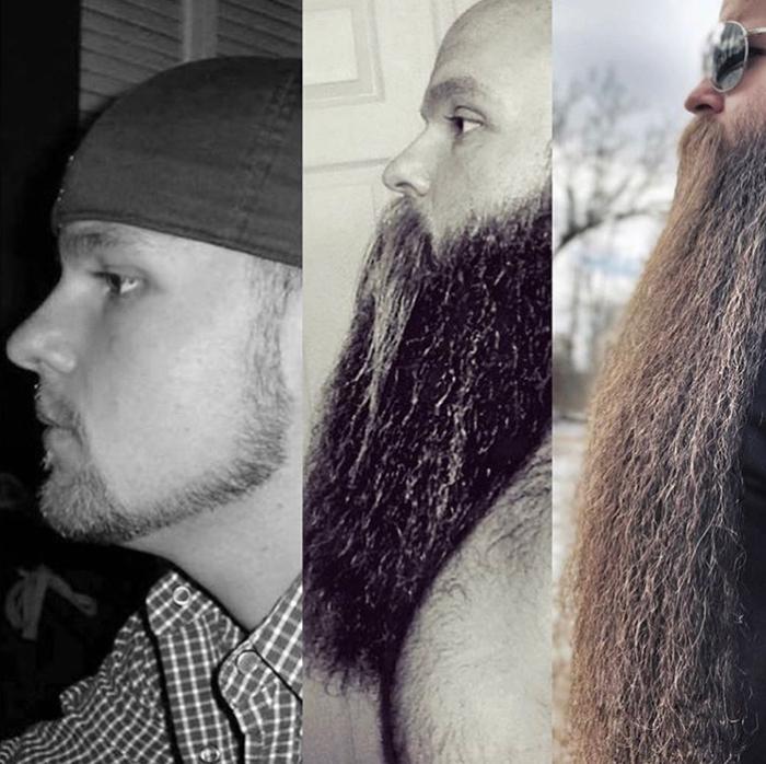Американец прославился благодаря своей бороде на весь мир