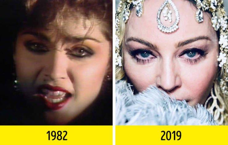 Известные певцы и певицы в своих дебютных видеоклипах и сейчас