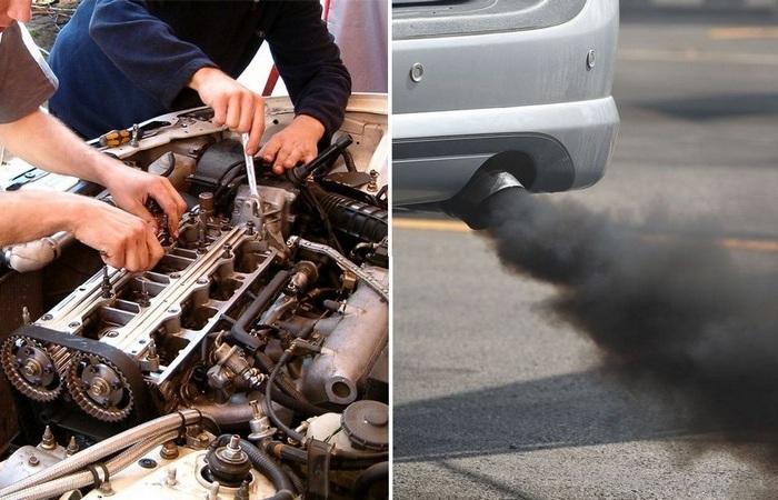 Цвет выхлопных газов может сказать о неисправности автомобиля