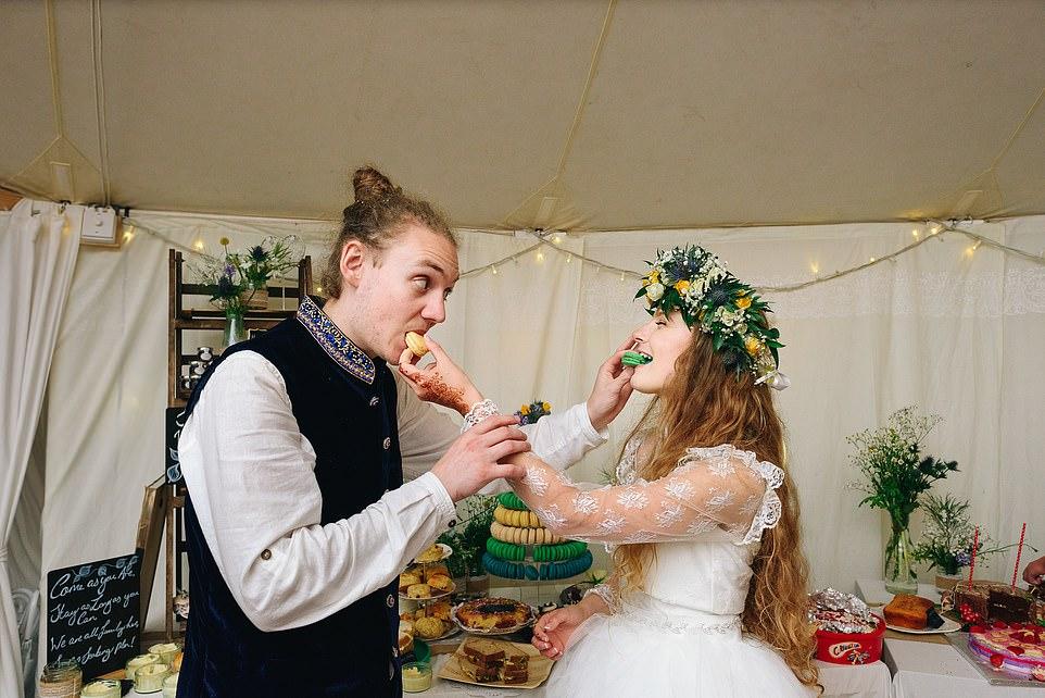 Экологичная свадьба в лесу Британии