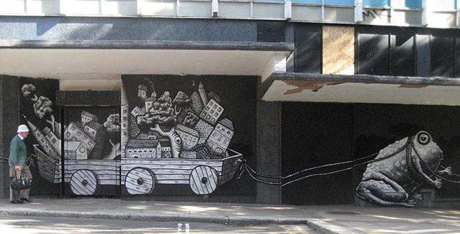 Удивительное уличное искусство от Phlegm