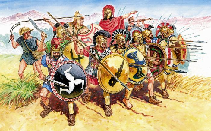 История гребней на шлемах спартанцев
