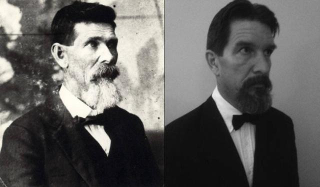 Сходство родственников одного возраста на снимках разных лет