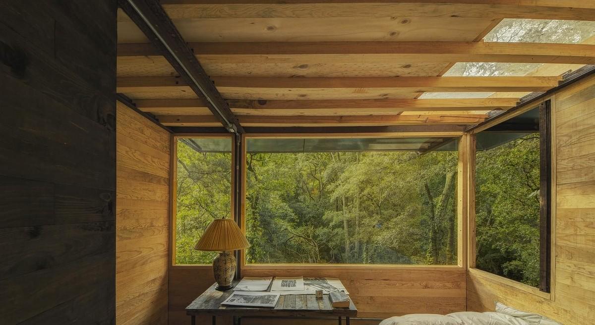 Деревянный дом в горах Мехико
