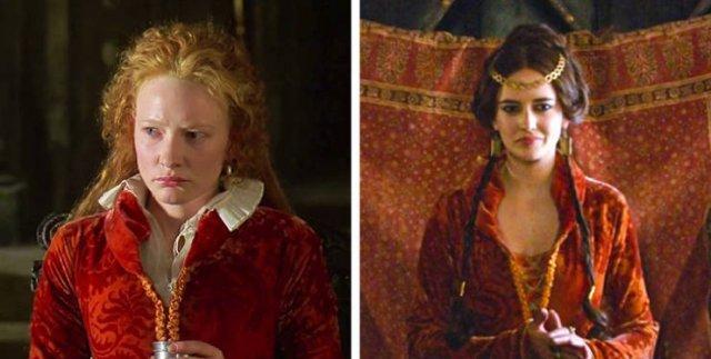 Одни и те же костюмы в разных фильмах