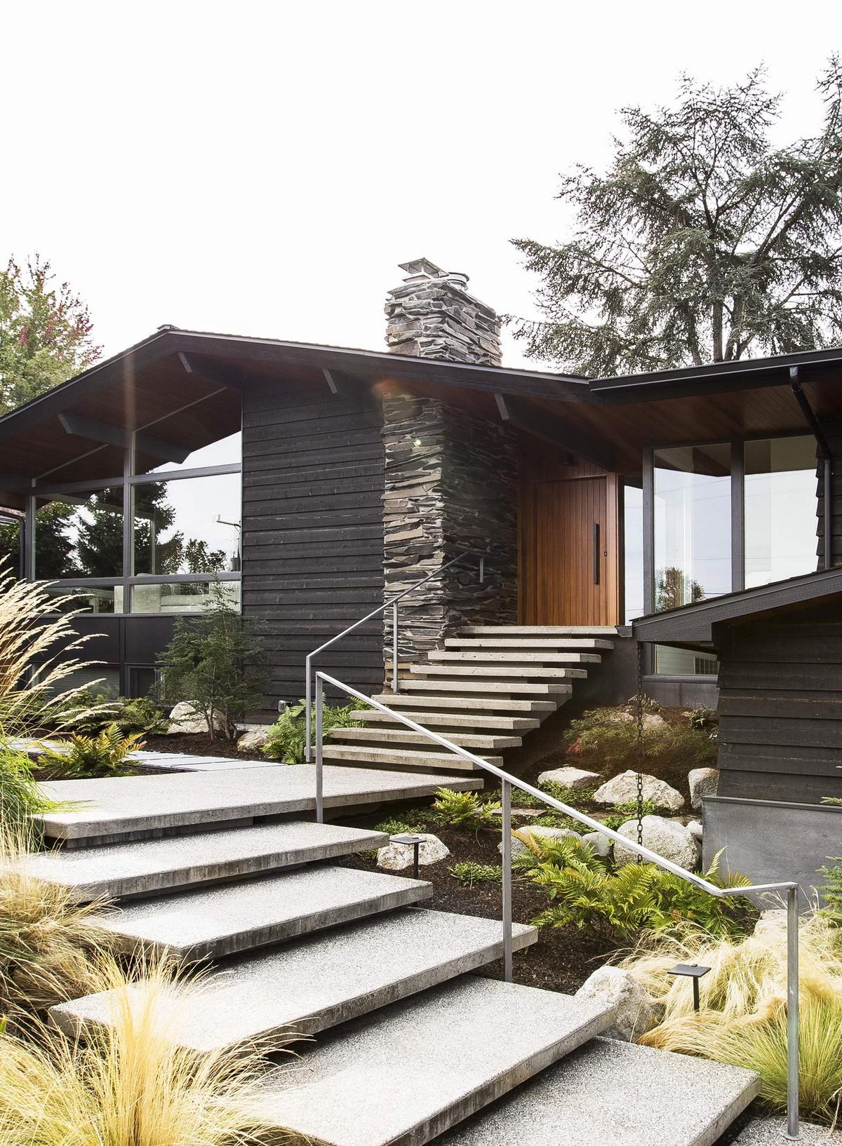 Реконструкция дома в стиле ранчо в США