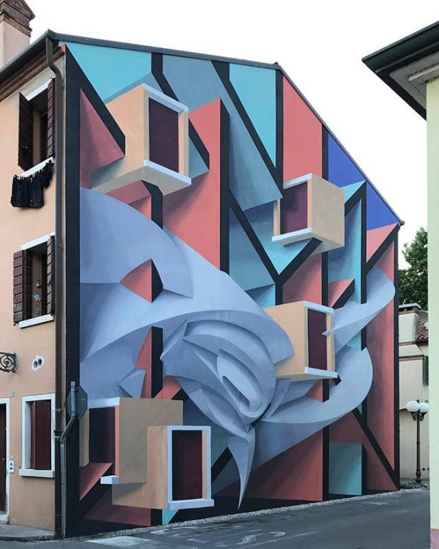 Потрясающие 3D-граффити и стрит-арт