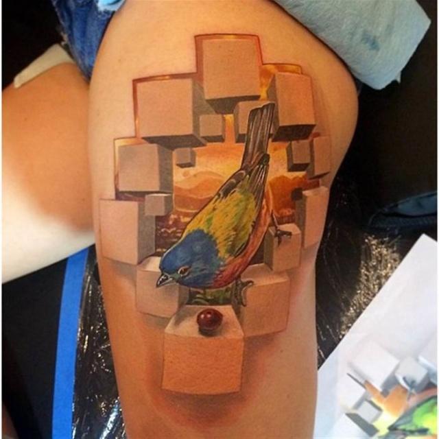 Удивительные 3D-татуировки от мастеров