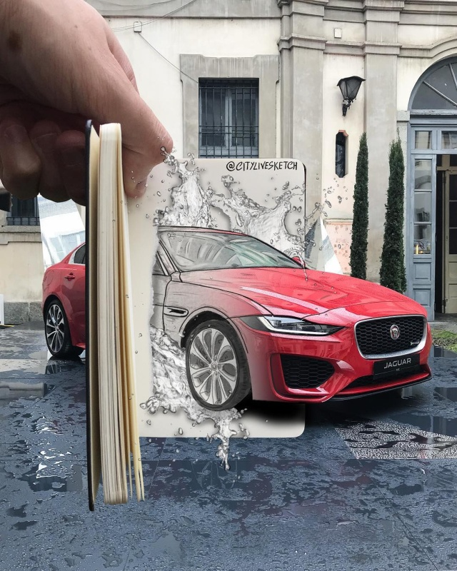 Итальянский художник соединяет фантазию и реальный мир
