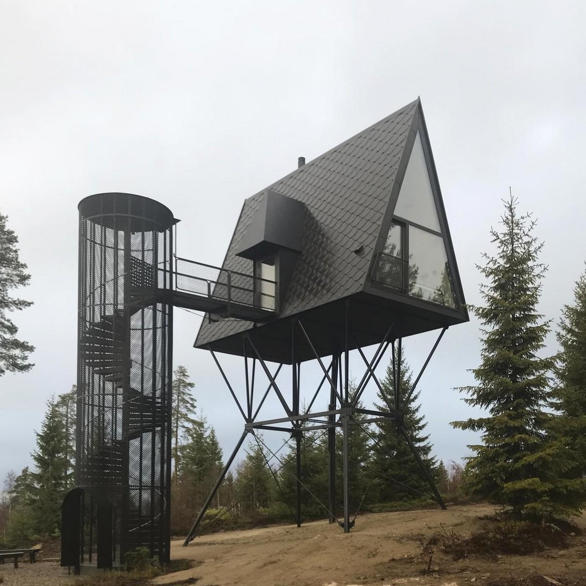 Небольшие дома для отдыха в норвежском лесу