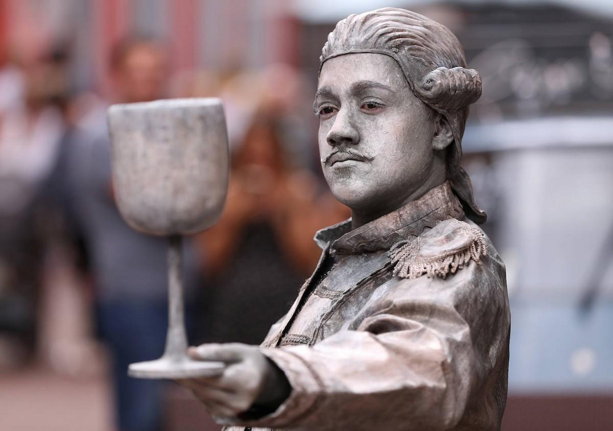 Фестиваль живых статуй в Бельгии