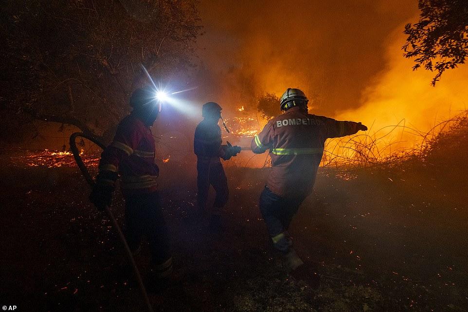 Сильные лесные пожары в Португалии