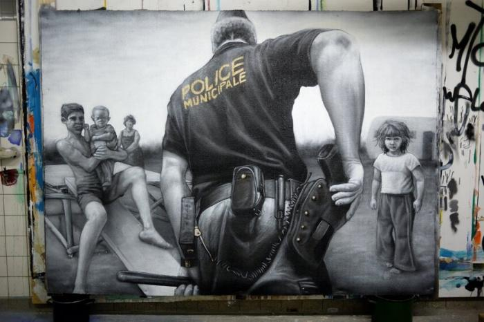 Стрит-арт уличного художника MTO