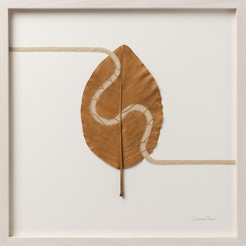 Вязание крючком на опавших листьях