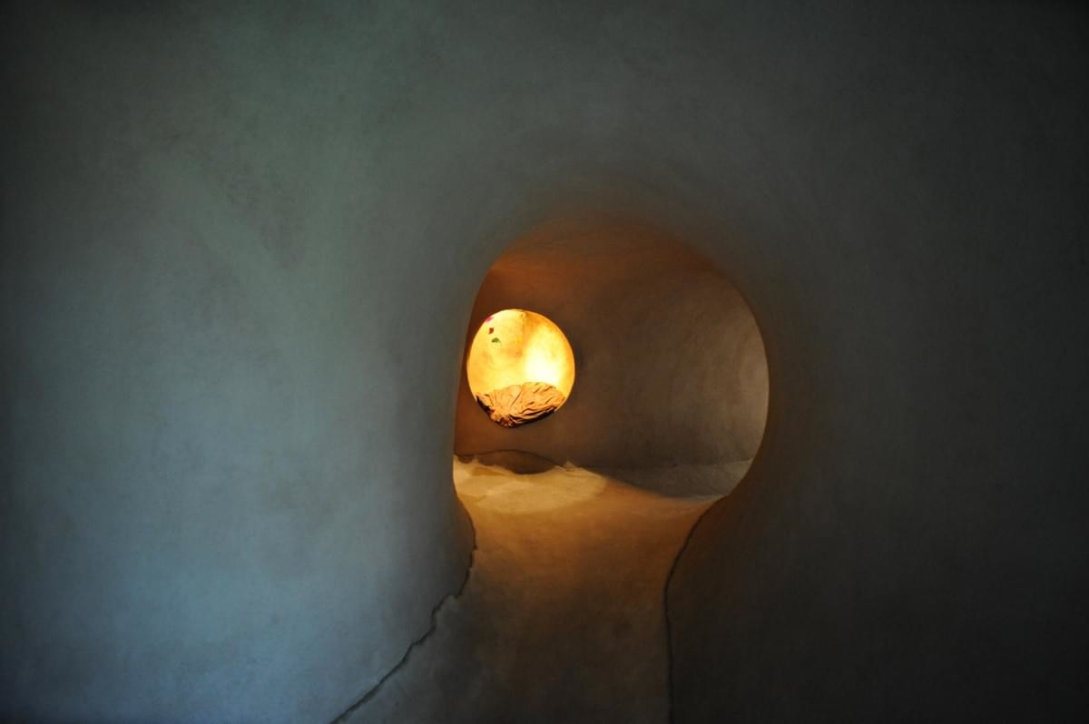 Подземный дом в Мексике