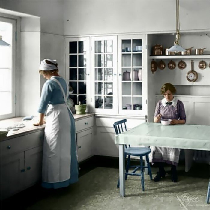 Как выглядели американские кухни в начале ХХ века